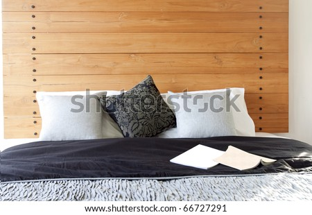 Comfortable bed with pillow