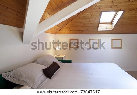 comfortable bedroom in loft