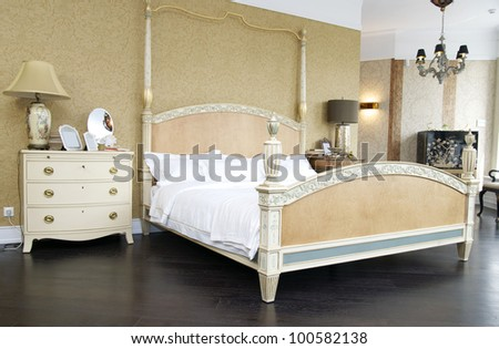 Comfortable bedroom with queen size bed
