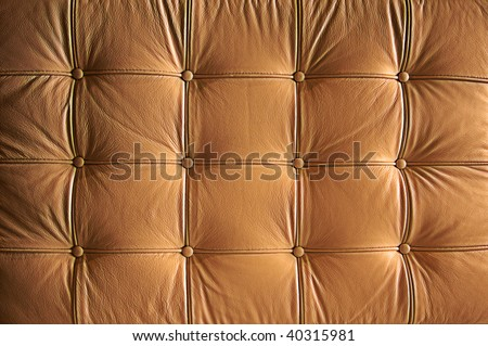 Comfortable Buttoned Leather Pattern with dramatic lighting.