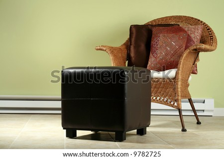 Comfortable chair and ottoman