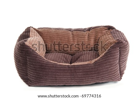 Comfortable cot for pets (cats and dogs) isolated - stock photo