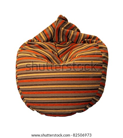 Comfortable lazy bag isolated with clipping path included