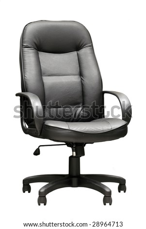 Comfortable leather manager's armchair  on the isolated background