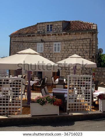Comfortable restaurant open-air