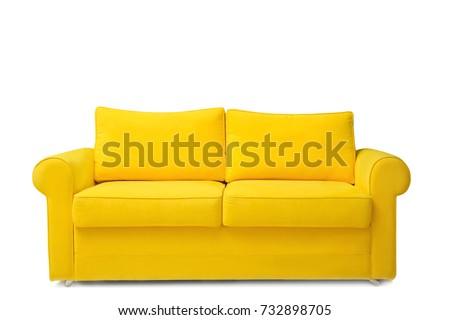 Comfortable sofa on white background #732898705