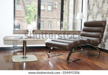 comfortable white leather chair for the rest