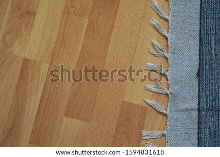 comfortable wooden floor and carpet