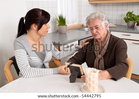 Comforted a young woman widowed by death. Grief counseling.