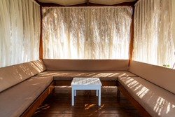 Comfortly and luxury designed pergola or pavillon for people who wants privacy and vip service on a vacation.