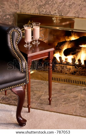 Comfy chair by the fire
