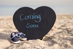Coming soon baby boy announcement