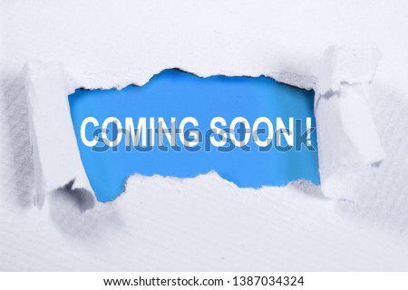 Coming Soon. Motivational inspirational business marketing words quotes lettering typography concept #1387034324