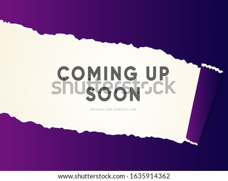 Coming Up Soon banner. Coming up soon template illustration. Сток-фото ©