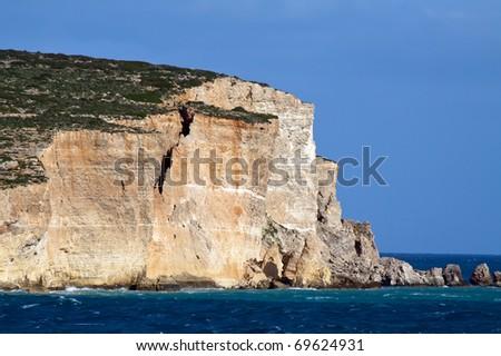Comino island and view of mediterranean (Maltese islands