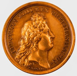 Commemorative French Coins, Coins French Ludovicus XIIII REX Christianissimus by J. Mauger ~1667.