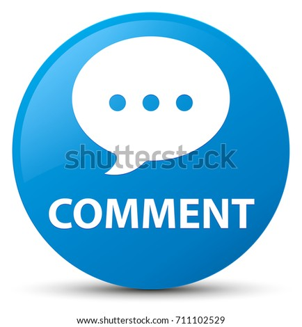 Comment (conversation icon) isolated on cyan blue round button abstract illustration