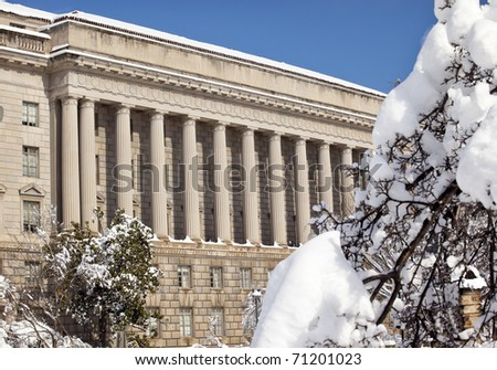 Commerce Department After the Snow Constitution Avenue Washington DC