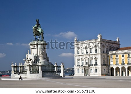 Commerce Square, commonly known as Terreiro do Paço (Palace Square), is located near the Tagus River in the city of Lisbon