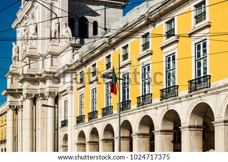 Commerce Square Terreiro do Paço in Lisbon, Portugal, Europe