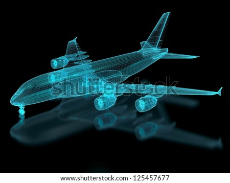 Commercial Aircraft  Mesh. Part of a series.