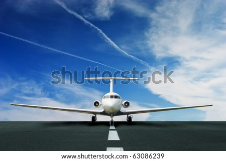 Commercial airliner on runway