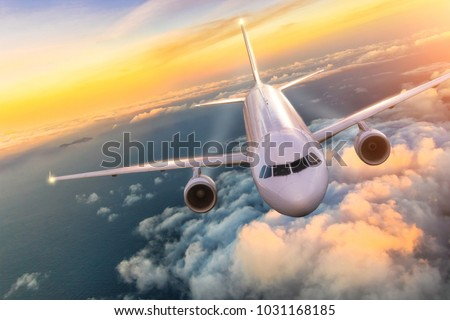 commercial airplane jetliner...