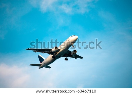 Commercial airplane take off