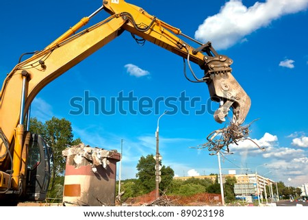 Commercial and Industrial Demolition with Hydraulic Crushing Hammers