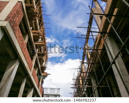 Commercial building building building construction on sky background #1486982237