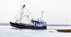 Commercial fishing boat in Wremen near Cuxhaven, Germany