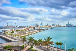 Commercial Harbor of Las Palmas - Capital of Grand Canary Island