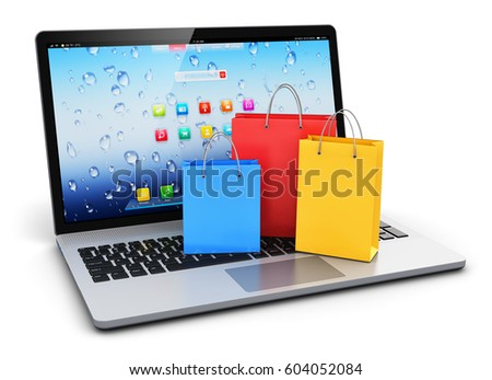 e4087ca9e Commercial internet business retail sale and web online shopping discount  offer concept  3D render of