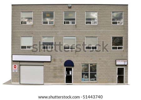Commercial Office Building - isolated