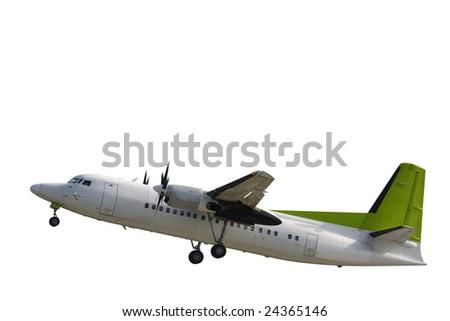 commercial passenger plane isolated on white