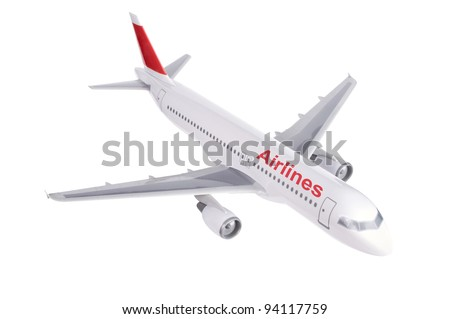 commercial plane model isolated on white background