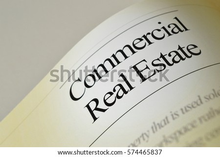 Commercial real estate: newspaper headlines with text background #574465837