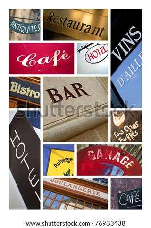 Commercial signs collage