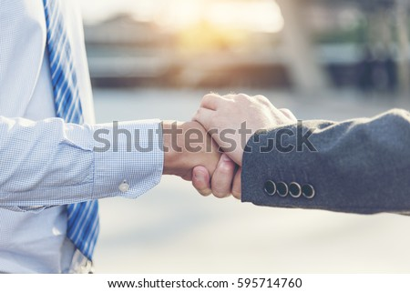 Commitment - trust fundamental factors relationship marketing. Business trust under commitment to reach successful achievement. Trust and commit concept.