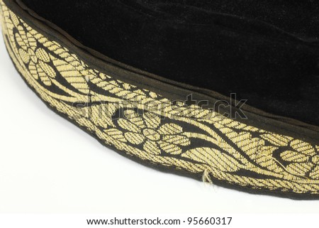 Common floral motif of a traditional malay head gear called songkok