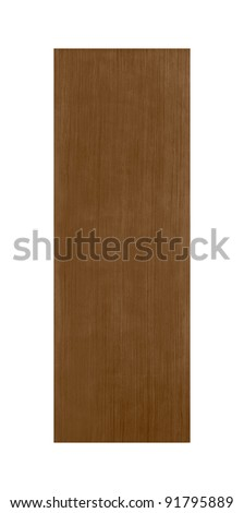 Common house interior door isolated on white background