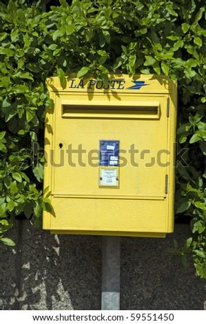 common post office box Ajaccio Corsica France