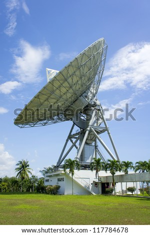 communication antenna disc on the structure