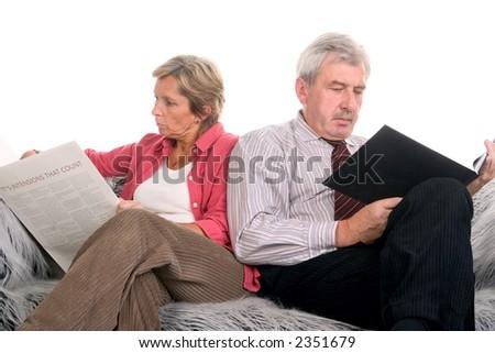 Communication breakdown between mature couple