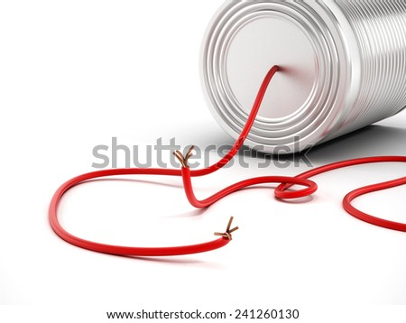 Communication breakdown with tin can having a disconnected cable