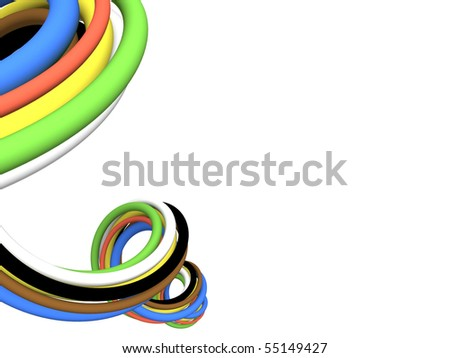 Communication computer cable. 3D render. - stock photo