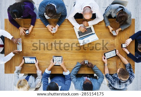 Communication Connection Digital Devices Technology Concept - Shutterstock ID 285154175