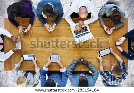 Communication Connection Digital Devices Technology Concept - Shutterstock ID 285154184