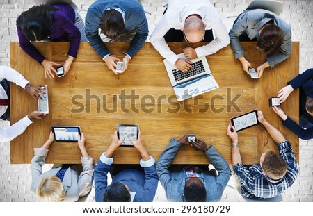 Communication Connection Digital Devices Technology Concept - Shutterstock ID 296180729