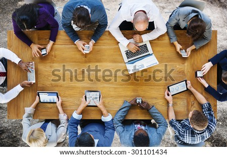 Communication Connection Digital Devices Technology Concept - Shutterstock ID 301101434